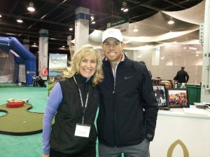 Chicago Bears Robbie Gould at Chicago Golf Show 2014