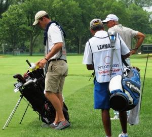 Tom Lehman and His Caddie 2014 Encompass Championship