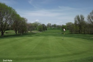 2nd Hole Downers Grove Golf Couse