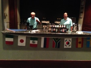 International Crown Watch Party bar