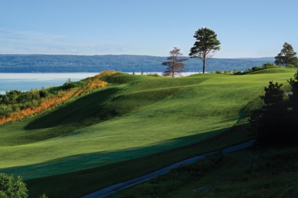 Crooked Tree's No. 16 offers a spectacular view of Little Traverse Bay from the tee. (All photos courtesy of Boyne Golf).