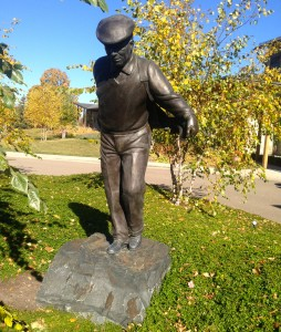 Hazeltine's Walking Man statue may soon become as famous as PInehurst's Putter Boy.