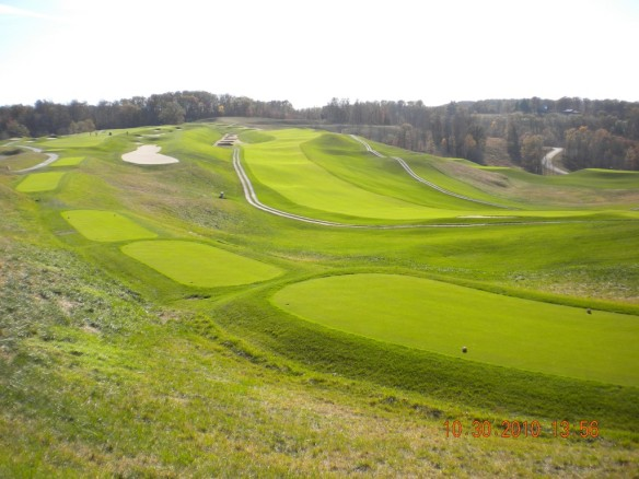 Spectacular views are the norm at French Lick's Pete Dye Course.