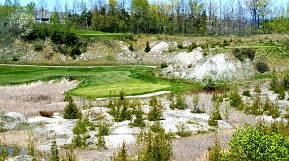 While water-front views dominate at Bay Harbor, my most striking is this shot on the Quarry nine.