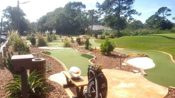 Mini golf at The Legacy