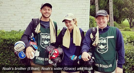 Noah and family - Evans Scholar